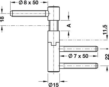 SIMONSWERK 5 0105102 01502 Einbohrband steigend V 5450 steigend DIN links 40 kg