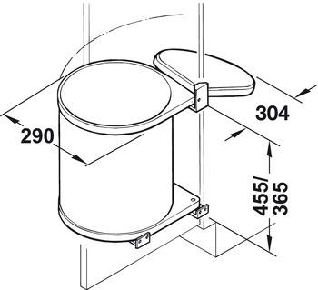 abfallsammler k che bad hailo mono 15l einbau m lleimer schrank abfallsammler ebay. Black Bedroom Furniture Sets. Home Design Ideas