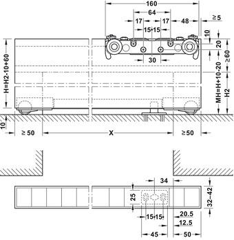 Schiebeturbeschlag Slido Design 80 M Garnitur Mit Laufschiene