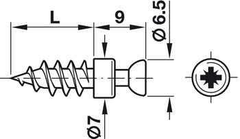 Verbindungsbolzen Rafix 30 verzinkt 5//12 mm