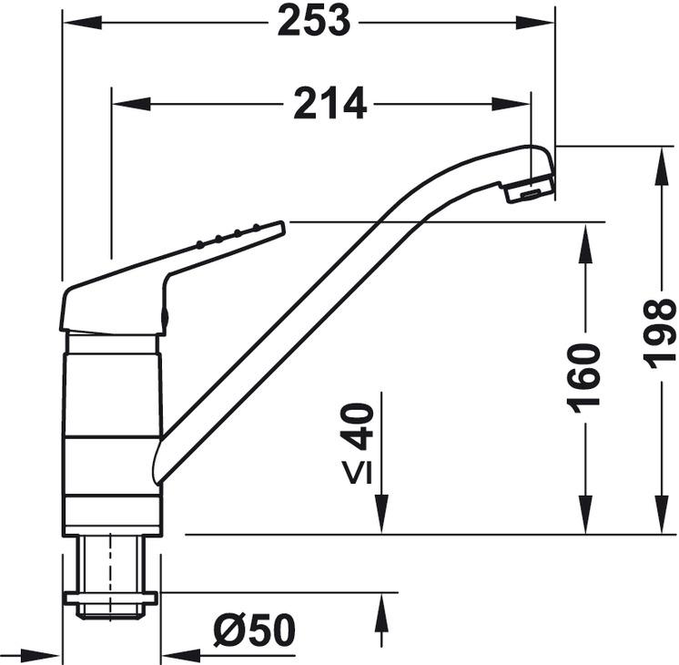 einhebelmischer fensterarmatur franke belaqua 150 hochdruck hd im h fele sterreich shop. Black Bedroom Furniture Sets. Home Design Ideas