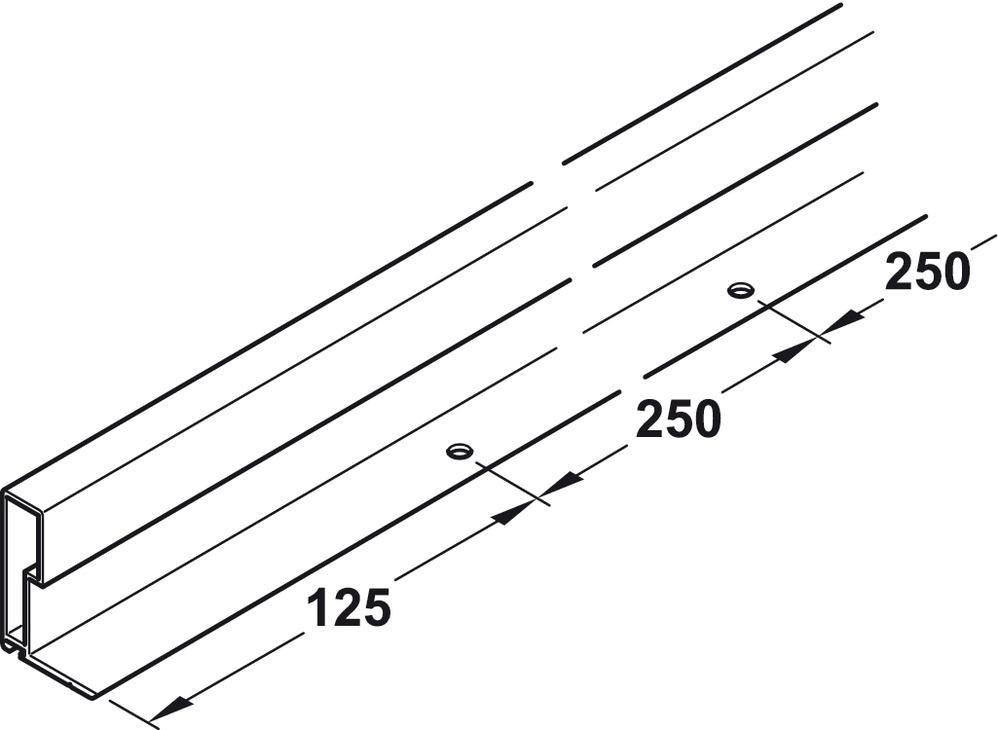 griff profilleiste aus aluminium f r holzschiebet ren im h fele sterreich shop. Black Bedroom Furniture Sets. Home Design Ideas