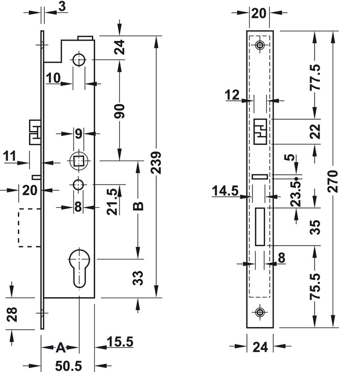 motor einsteckschloss dorma svp 2719 dornma 35 mm im. Black Bedroom Furniture Sets. Home Design Ideas