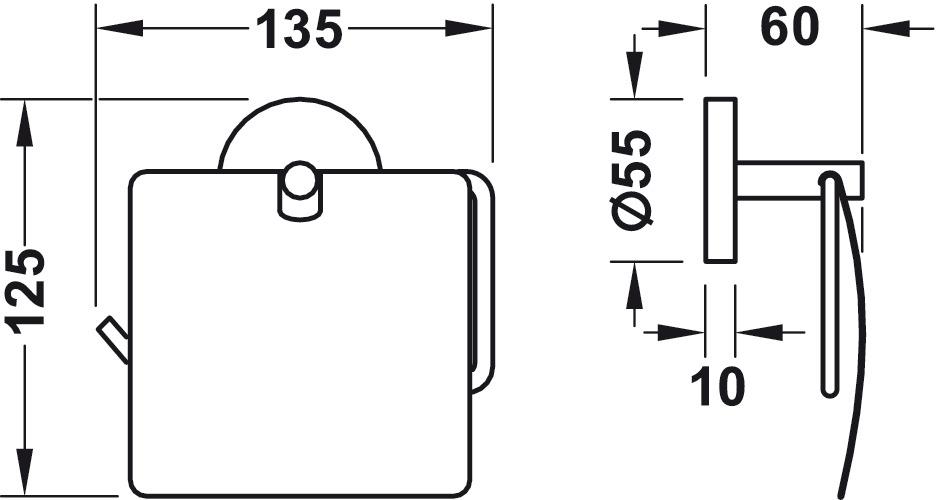 papierrollenhalter zum schrauben oder kleben im h fele sterreich shop. Black Bedroom Furniture Sets. Home Design Ideas
