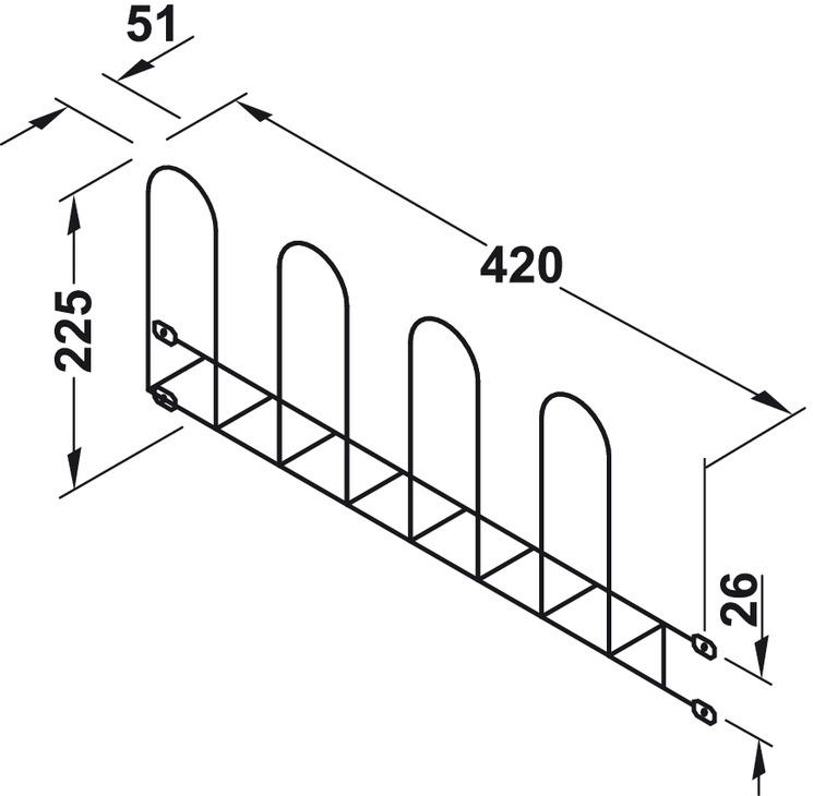 schuhhalter zum schrauben an die wand f r 2 paar schuhe im h fele sterreich shop. Black Bedroom Furniture Sets. Home Design Ideas