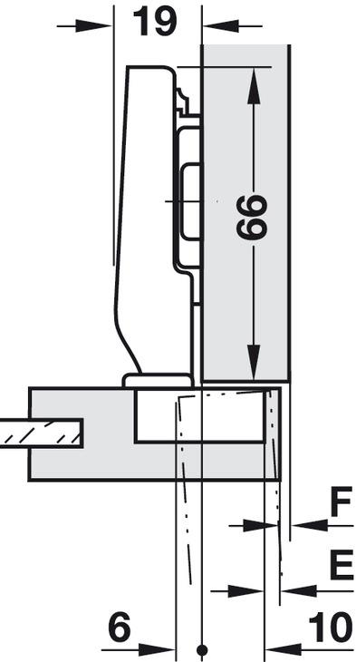blum clip top minischarnier 94 t rband 26 mm topf. Black Bedroom Furniture Sets. Home Design Ideas