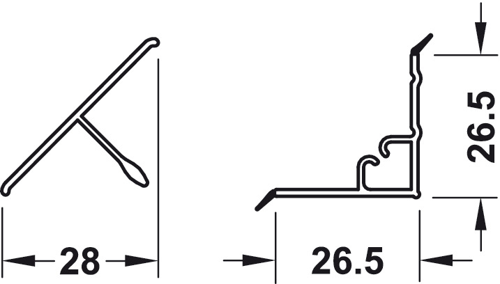 wandanschlussprofil triangel wandanschlussprofil 2 teilig im h fele sterreich shop. Black Bedroom Furniture Sets. Home Design Ideas