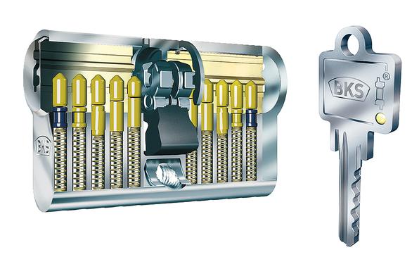 knaufzylinder messing aluminium gesch tzte einzelschlie ung serie 45 janus bks im h fele. Black Bedroom Furniture Sets. Home Design Ideas